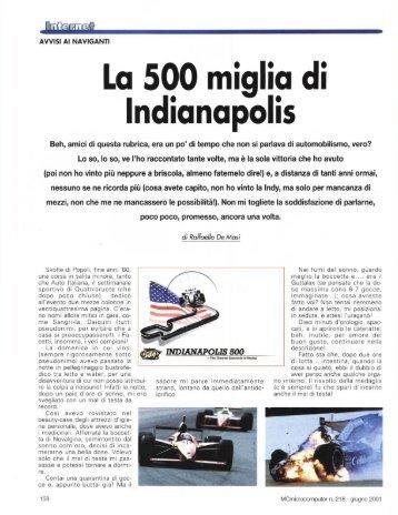 La 500 miglia di Indianapolis - digiTANTO.it