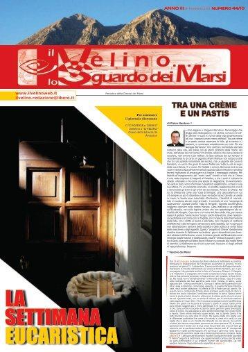 Il Velino, lo Sguardo dei Marsi Anno III, numero 44/10 del 31 maggio ...