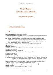 Parole di uso generale - Arcipelago Adriatico