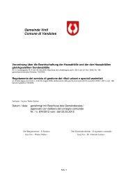 Regolamento del servizio di gestione dei rifiuti urbani