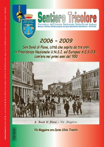 N° 1 Anno XVII (LVII) ~ Gennaio/Marzo 2009 - Unione Nazionale ...