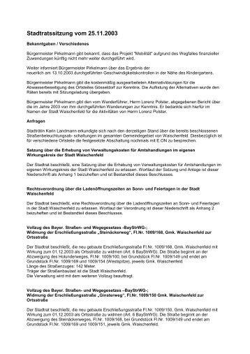 Sitzung 031125 - Waischenfeld
