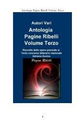 Antologia Pagine Ribelli Volume Terzo