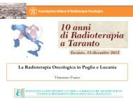 La Radioterapia Oncologica in Puglia e Lucania - Congressiairo.It