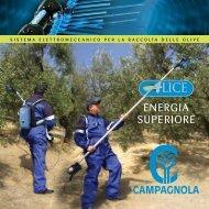 sistema elettromeccanico per la raccolta delle olive - Campagnola srl