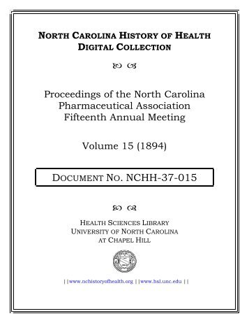 Vol. 15, 1894 - University of North Carolina at Chapel Hill