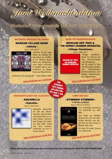 Musikalisch herausragende CDs zum Verschenken ... - Jaro Medien