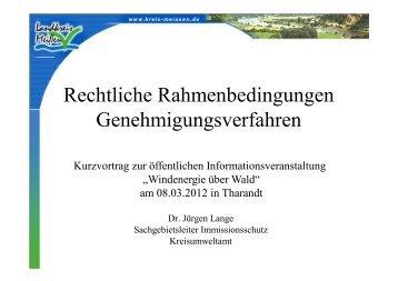 Dr. Jürgen Lange, LRA Meißen - Der Sächsische ...