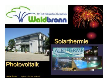 Photovoltaik Solarthermie - Gemeinde Waldbronn