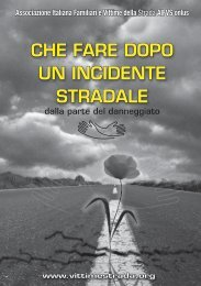 che fare dopo un incidente stradale - Associazione Italiana Familiari ...
