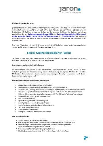 Senior Online Mediaplaner - Jaron