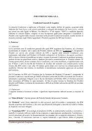 Condizioni generali d'acquisto Pagina 1 INDUSTRIE DE NORA SPA ...