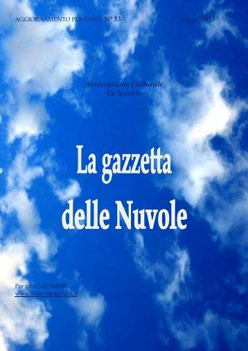 AGGIORNAMENTO PER I SOCI N° 25 - Le Nuvole