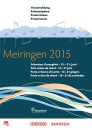 Schweizer Gesangfest · 12. – 21. Juni Fête suisse de chant · 12 – 21 ...
