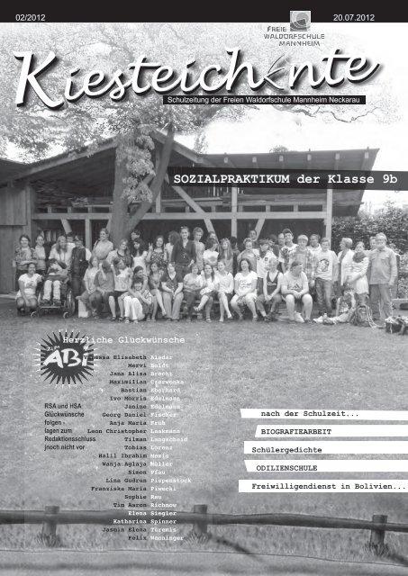 Kiesteichente Juli 2012 - Freie Waldorfschule Mannheim