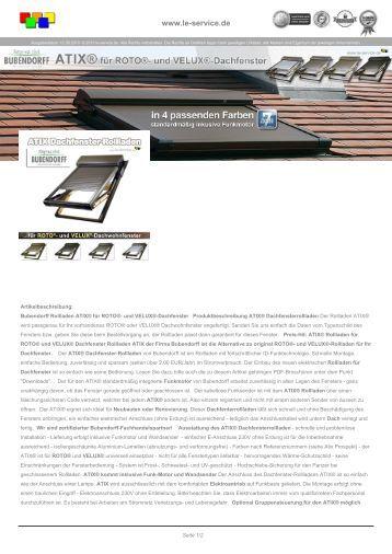 Bubendorff atix dachfenster rollladen f r roto abc Antrieb fur markisen