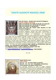 VISITE GUIDATE MAGGIO 2008 - Comune di Napoli