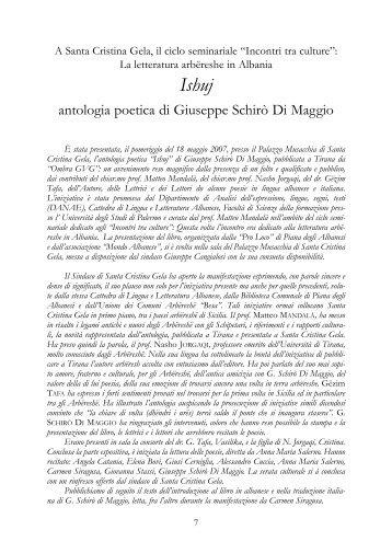 antologia poetica di Giuseppe Schirò Di Maggio - Comune di Piana ...