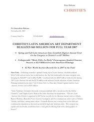 christie's latin american art department realizes $60 million for full ...