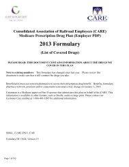 CARE 2013 Version 15 Comprehensive Member ... - Catamaran