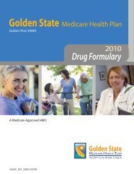 2010 Drug Formulary - Golden State Medicare Health Plan