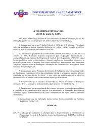 002/2005 - Restrições ao uso de fumo em ambiente interno - Uniplac