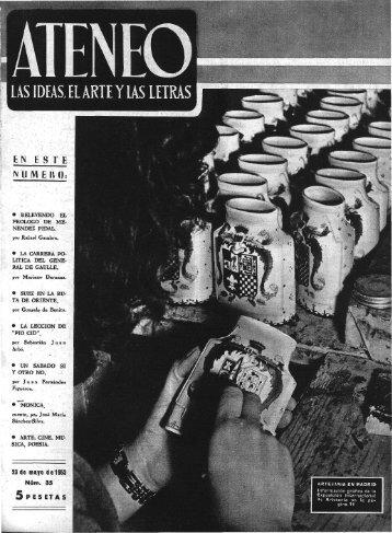 LAS IDEAS, EL ARTE Y LAS LETRAS - Ateneo de Madrid