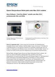 Epson Discproducer Reihe jetzt unter Mac OS X nutzbar
