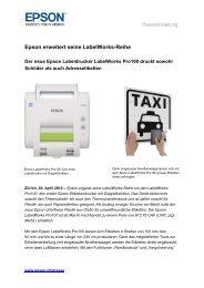 Epson erweitert seine LabelWorks-Reihe - Jenni Kommunikation