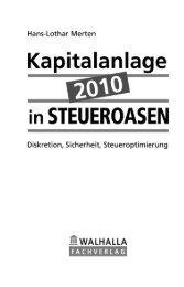 Kapitalanlage 2010 in Steueroasen