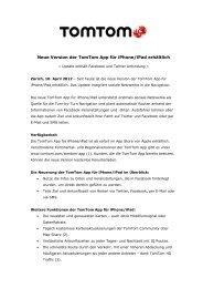 Neue Version der TomTom App für iPhone - Jenni Kommunikation