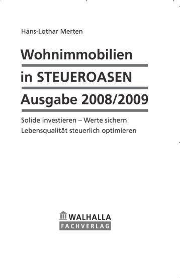 Wohnimmobilien in Steueroasen Ausgabe 2008/2009, Merten