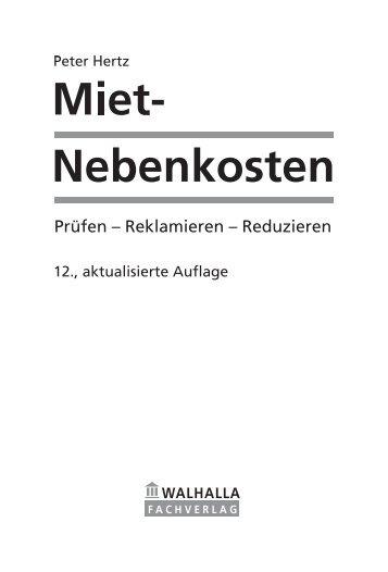 Miet-Nebenkosten, Peter Hertz
