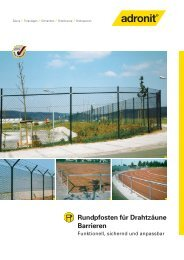 Maschendrahtzäune, Rundpfosten - Waliczek und Contzen