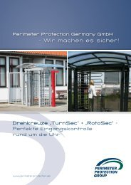 Perimeter Drehkreuze TurnSec + RotoSec
