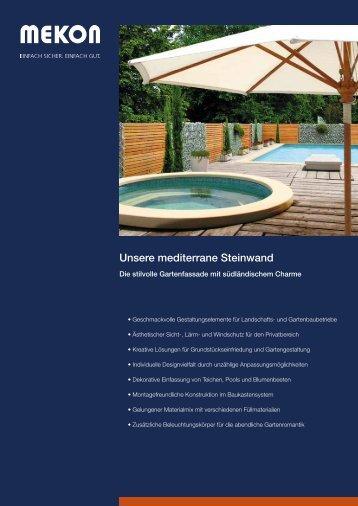 MEKON – Unsere mediterrane Steinwand