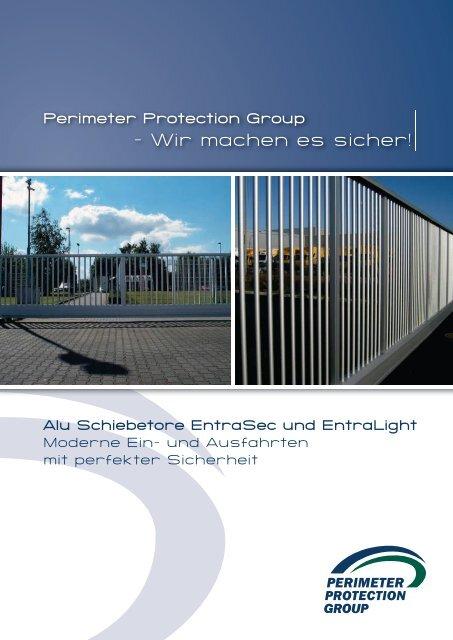 Perimeter Alu-Schiebetore EntraSec + EntraLight