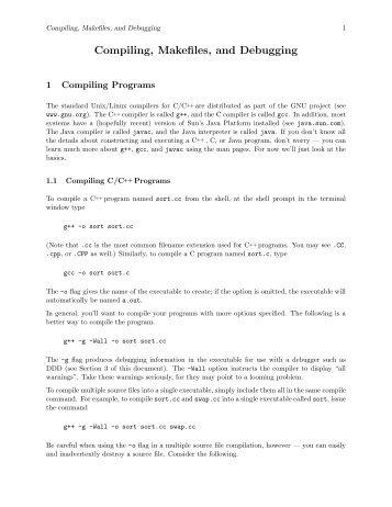 Compiling, Makefiles, and Debugging