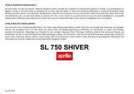 SL 750 SHIVER - Aprilia Brand - After-Sales Website