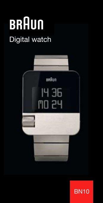Digital watch - BRAUN clocks and watches