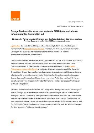 Orange Business Services baut weltweite
