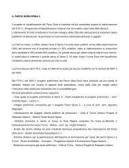 IL PARCO DORA/SPINA 3 Il progetto di riqualificazione del Parco ...