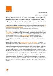 Orange Business Services im dritten Jahr in Folge - Jenni ...