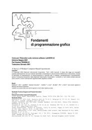 Fondamenti di programmazione grafica