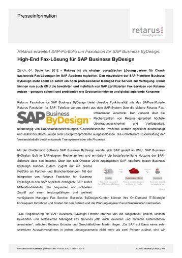 High-End Fax-Lösung für SAP Business ByDesign - Jenni ...