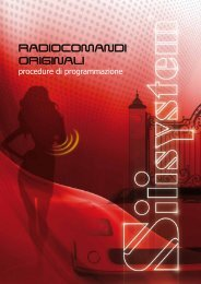 Istruzioni Radiocomandi Originali - Silisystem