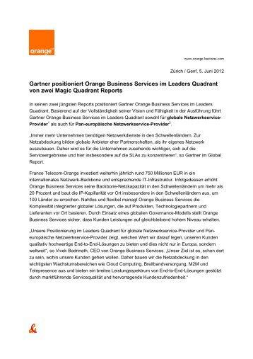 Gartner positioniert Orange Business Services im Leaders Quadrant ...