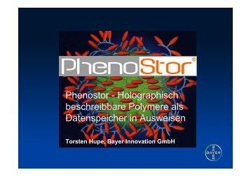 Phenostor - Holographisch beschreibbare Polymere als ...
