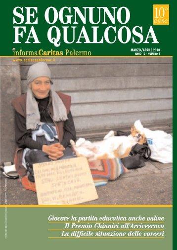 Impaginato Marzo-Aprile 10 - Caritas Diocesana di Palermo