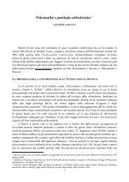Psicoanalisi e patologia schizofrenica 1 - Psiche